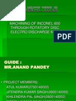 machining of inconel 600 edm
