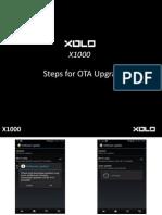 XOLO X1000 OTA Upgrade Steps