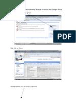 Para Compartir El Documento de Sus Avances en Google Docs