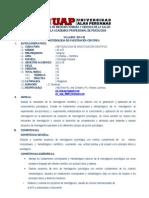 Syllabus Metodologia de Investigacion Piscologia