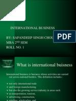 Internationa Business Ppt