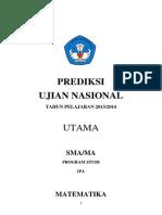 Prediksi Soal Dan Pembahasan Matematika UN IPA 2014