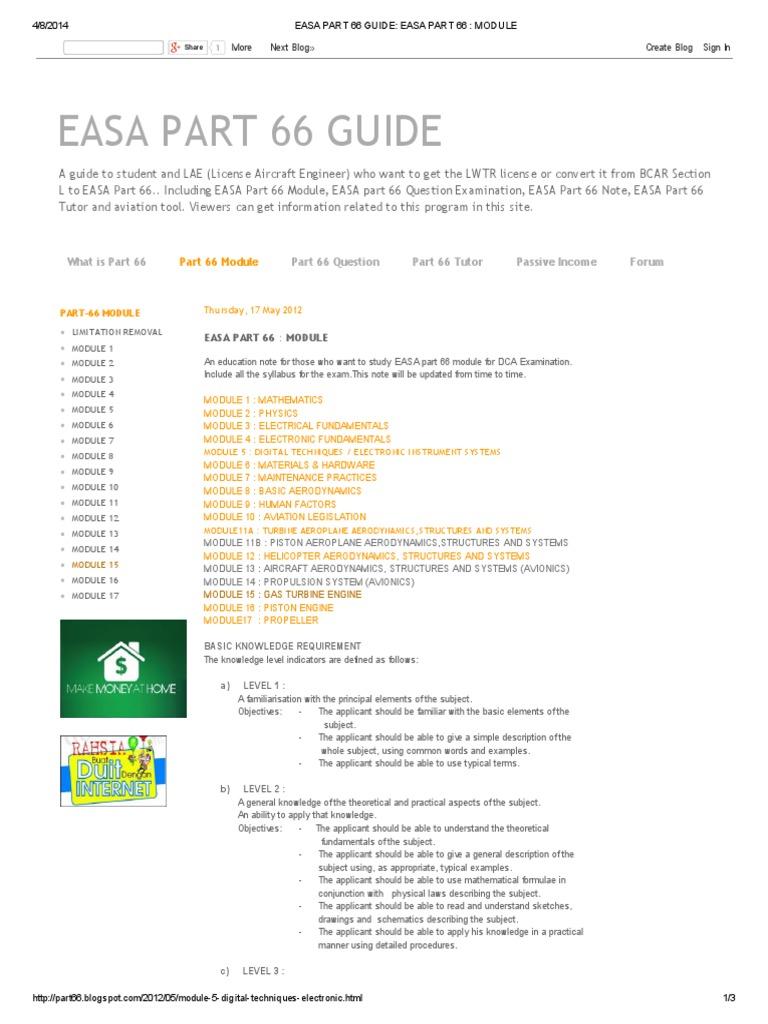Easa Part 66 Guide_ Easa Part 66 _ Module | Avión | Física y matemáticas