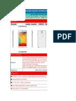 Note 3 Specification--haoen Technology