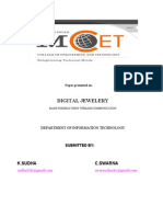 Image processing with fingerprints applications using Digital Jewelery
