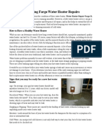 Preventing Fargo Water Heater Repairs