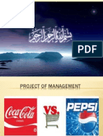 Management of Pepsi Coca Cola