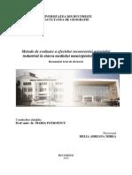 Metode de Evaluare a Efectelor Reconversiei Peisajului Industrial in Starea Mediului