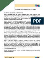 Proyecto de Ley INCINI (Solo Articulos