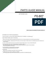 FS-607 Parts Manual