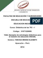 Ejemplos de estrategias didácticas para el maestro de educación INICIAL
