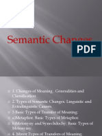 Semantic Changes(5)