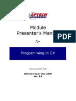 ACCP i7.1 Sem 2-Module PM-C# Ver 1.1-DM1