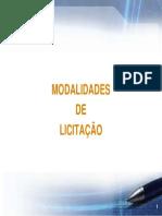 Modalidades de Licitação - Portal MJ