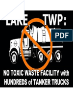 No Toxic Waste Sign