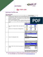 Opti-Cal TPS1200 Terminal Mode Quickguide