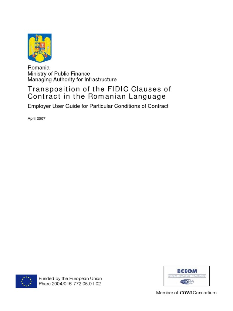 Bfc2-071 Fidic User Guide 250407 Final   General Contractor   Specification  (Technical Standard)