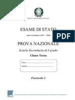 Invalsi Matematica 2007-2008 Terza[1]