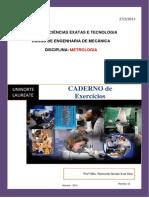 CADERNO de Exercicios METROLOGIA Prof Raimundo Nonato Fev 2013