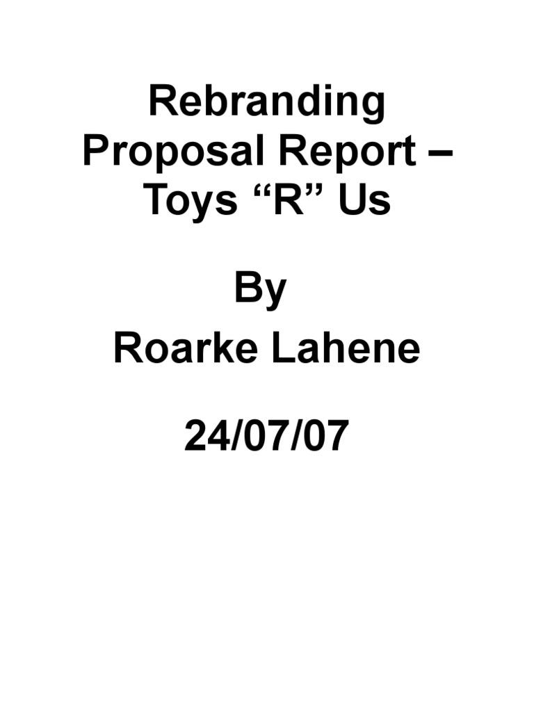 rebranding proposal report business marketing