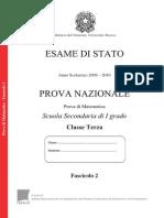 Invalsi Matematica 2009-2010 Terza[1]