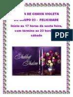 VIGÍLIA VIOLET FLAME - GRUPO 03 DA FELICIDADE