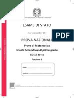 Invalsi Matematica 2012 2013 Terza