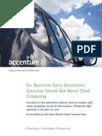 Accenture Global Auto Six Questions Cloud POV