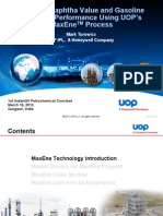 Enhance Naphtha Value and Gasoline Reformer Performance Using UOP's MaxEneTMProcessEnhance
