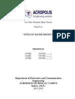 Final Report Format