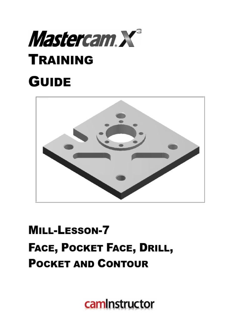 mastercam 7 2 tutorial manual