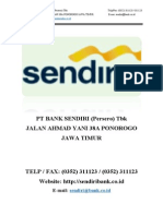 Devi Prasetyo U KE2D 06 Profil Perusahaan PT BANK SENDIRI