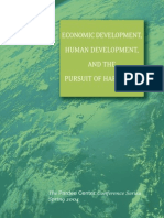 Economic Development Human Development and the Pursuit of Happines