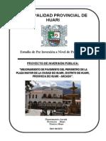 Perfil Pavimentado de Contorno de Plaza Mayor Huari - Ancash