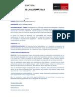 PROGRAMA DIDÁCTICA DE LA MATEMÁTICA I(1)