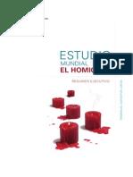 UNODC - Estudio Global Sobre Homicidio 2013