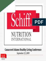 Shiff Nutrition September 2009