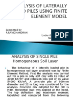 Analysis of Laterally Loaded Piles Using Finite Element