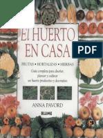 Agricultura Ecologica - Libro - El Huerto en Casa (a Pavord - Blume)