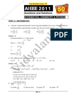 AIEEE 2011 Mathematics Question Paper