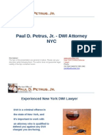 Paul D. Petrus, Jr. - DWI Attorney NYC