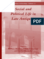 Social and Political Life in Late Antiquity