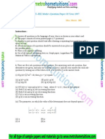 IIT JEE Mathematics 1997
