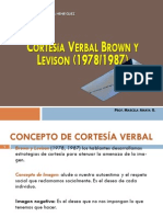 Cortesía Verbal Brown y Levison