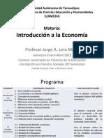 Exposición Materia. Introducción a la Economia (ene-abr2013)