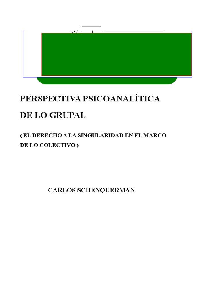 Perspectiva Psicoanalitica_de Lo Grupal - Carlos Schenquerman