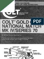 Colt Gold Cup National Match MKIV S-70