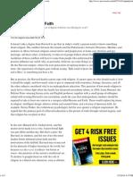 Miller - Harvard's Crisis of Faith (Newsweek)