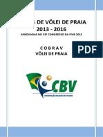 REGRAS DE VÔLEI DE PRAIA 2013-2016
