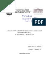 Calculo Computarizado de Estructuras y Fundaciones de Soportes de Lineas de Transmision y Distribucion